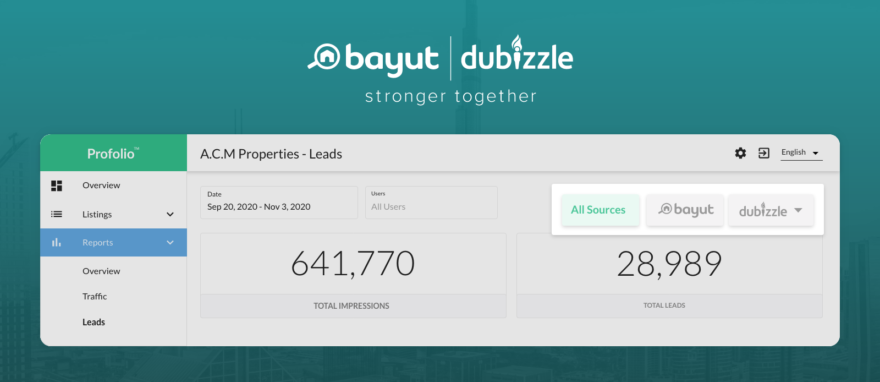Access your leads on Bayut & dubizzle