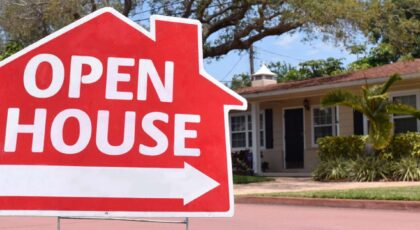 Open house for real estate